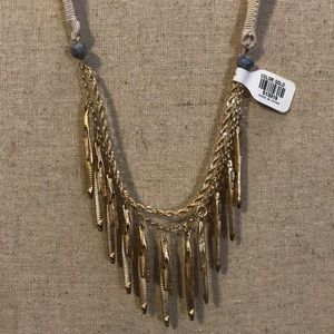 Gold Ribbon Necklace
